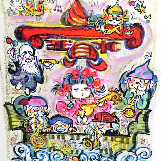 踊る七福神